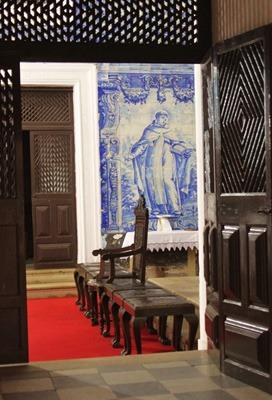azulejos dans l'église De Nossa Senhora do Carmo