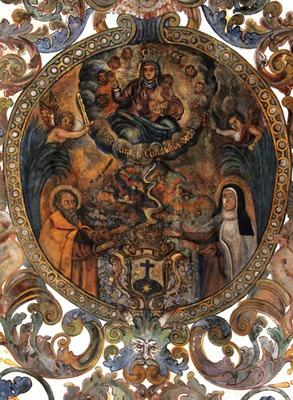 plafond de l'église de Nossa Senhora do Carmo