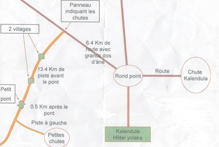 Plan accès chutes de Musseleu