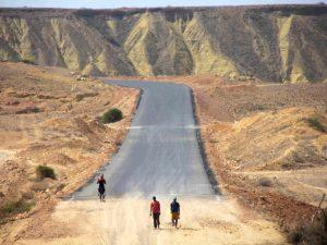 Route entre Namibe et Benguela