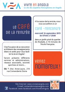 Affiche du Café de la rentrée de Vivre en Angola