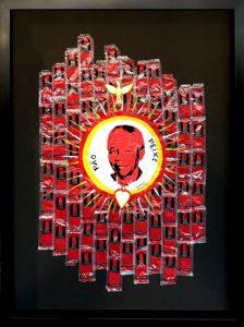"KAPELA - ""Bread + Fish"" 133 x 98cm - framed - 2017 : Akz 650.000"