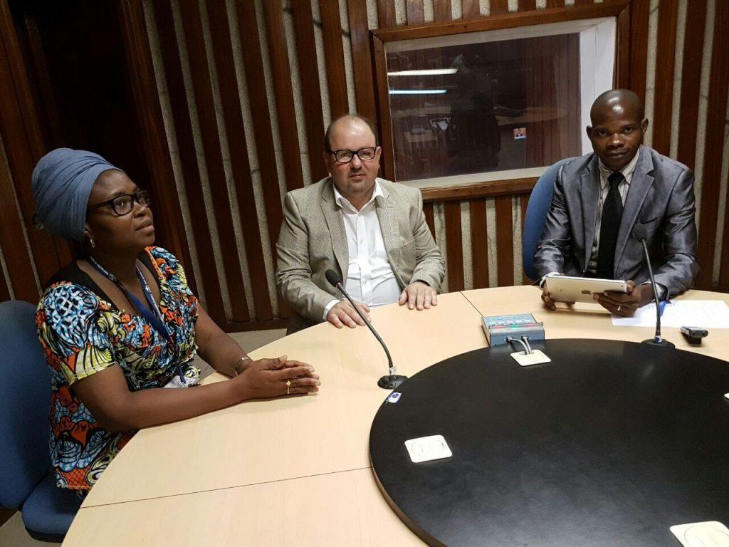 Avraham Ben-Haïm à la radio nationale Angolaise