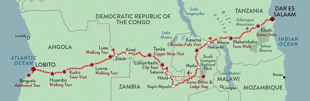 Un voyage en train de lue entre la Tanzanie et l'Angola